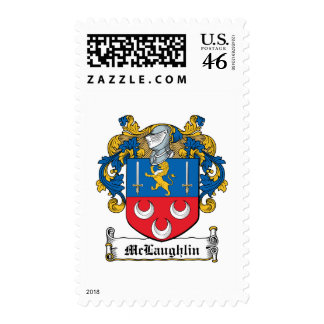McLaughlin Family Crest Postage Stamp