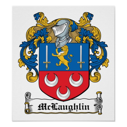 McLaughlin Family Crest Poster
