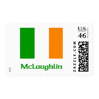 McLaughlin Irish Flag Postage Stamp