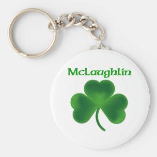 McLaughlin Shamrock Keychain