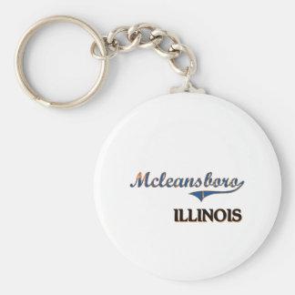 Mcleansboro Illinois City Classic Keychains