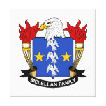 McLellan Family Crest Stretched Canvas Print