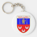 McLoughlin Coat of Arms/Family Crest Basic Round Button Keychain