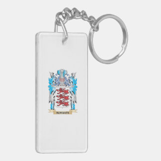 Mcmahon Coat of Arms - Family Crest Double-Sided Rectangular Acrylic Keychain