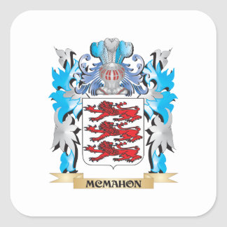 Mcmahon Coat of Arms - Family Crest Square Sticker