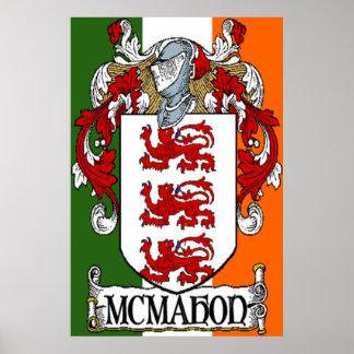 McMahon Coat of Arms Irish Flag Print