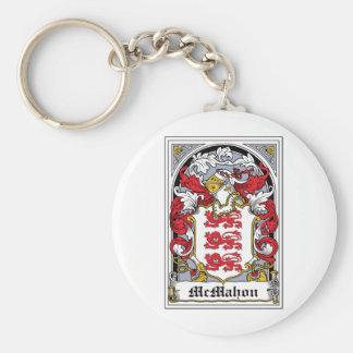 McMahon Family Crest Basic Round Button Keychain