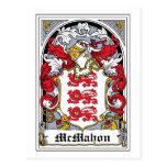 McMahon Family Crest Postcard