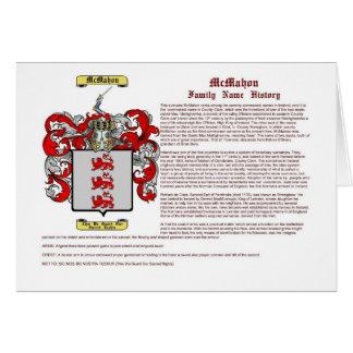McMahon (history) Card