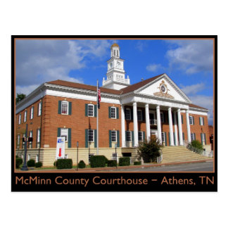 McMinn County Courthouse - Athens, TN Postcard