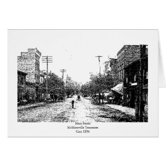 McMinnville Tennessee Circa 1896 Greeting Card