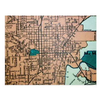 McMINVILLE, OR Vintage Map Postcard