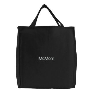 McMom Embroidered Tote Bag