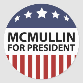 McMullin For President Classic Round Sticker