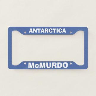 McMurdo Station Antarctica License Plate Frame