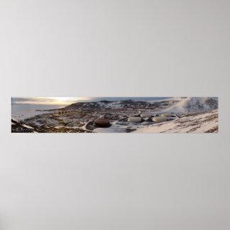 McMurdo Station Panoramic Poster