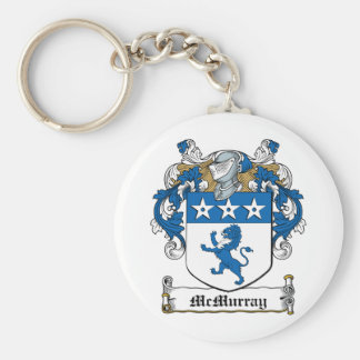 McMurray Family Crest Basic Round Button Keychain