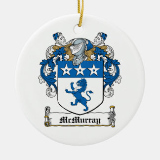 McMurray Family Crest Double-Sided Ceramic Round Christmas Ornament