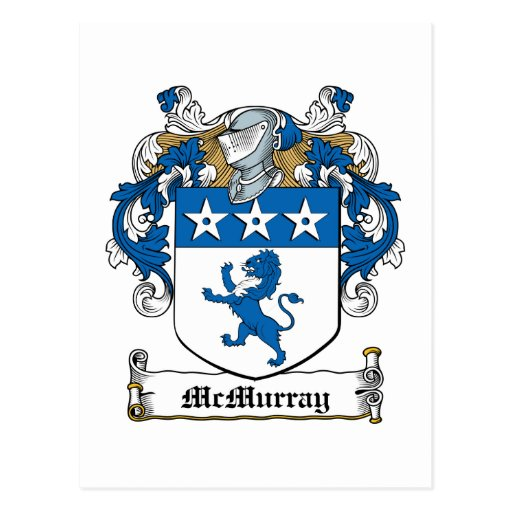 McMurray Family Crest Postcard