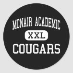 McNair Academic - Cougars - High - Jersey City Round Stickers