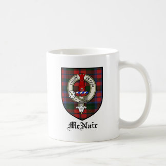 McNair Clan Crest Badge Tartan Coffee Mug