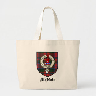 McNair Clan Crest Badge Tartan Large Tote Bag