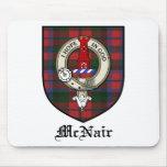 McNair Clan Crest Badge Tartan Mouse Mats