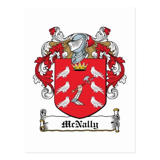 McNally Family Crest Postcard