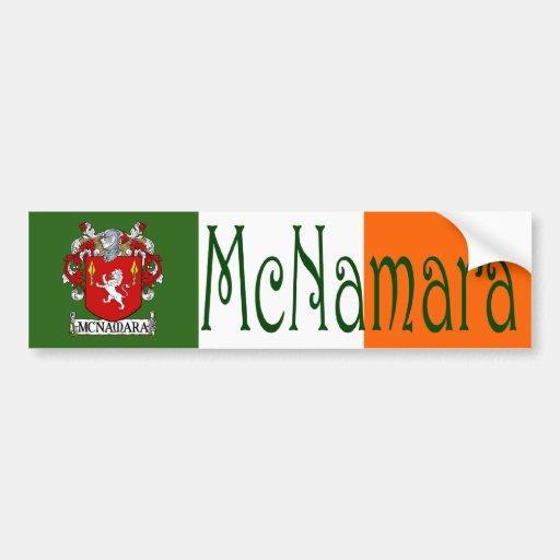 McNamara Coat of Arms Flag Bumper Sticker