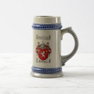 McNamara Coat of Arms Stein 18 Oz Beer Stein