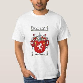 Mcnamara Family Crest - Mcnamara Coat of Arms Tee Shirt