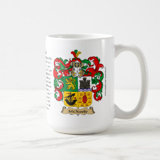 McNeely, the Origin, the Meaning and the Crest Coffee Mug