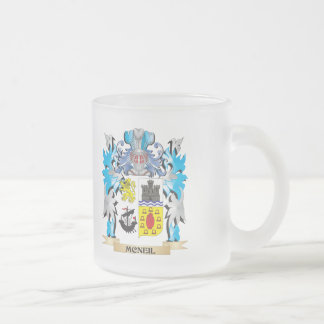 Mcneil Coat of Arms - Family Crest 10 Oz Frosted Glass Coffee Mug