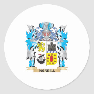 Mcneill Coat of Arms - Family Crest Round Stickers