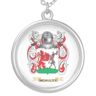 McNulty Coat of Arms (Family Crest) Silver Plated Necklace