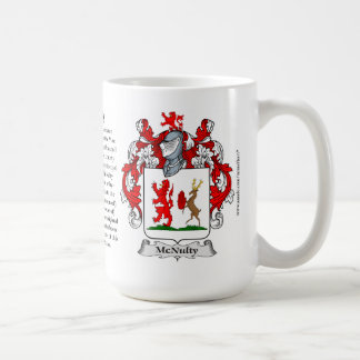 McNulty, the Origin, the Meaning and the Crest Coffee Mug