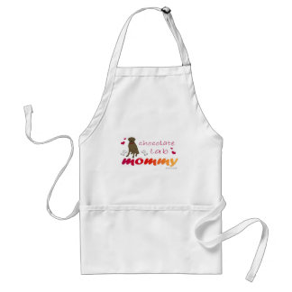 mcoct8 Chocolate Lab Mommy Adult Apron