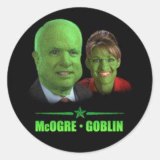 McOgre / Goblin '08 Round Sticker
