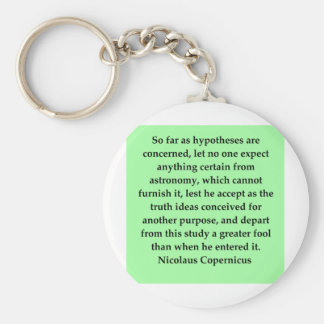 (mcopernicus quote basic round button keychain