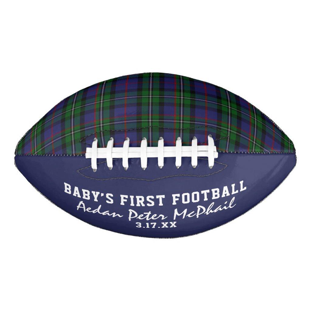 McPhail Hunting Tartan Baby's First Football