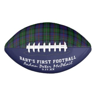McPhail Hunting Tartan Baby's First Football