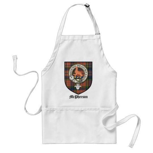 McPherson Clan Crest Badge Tartan Adult Apron