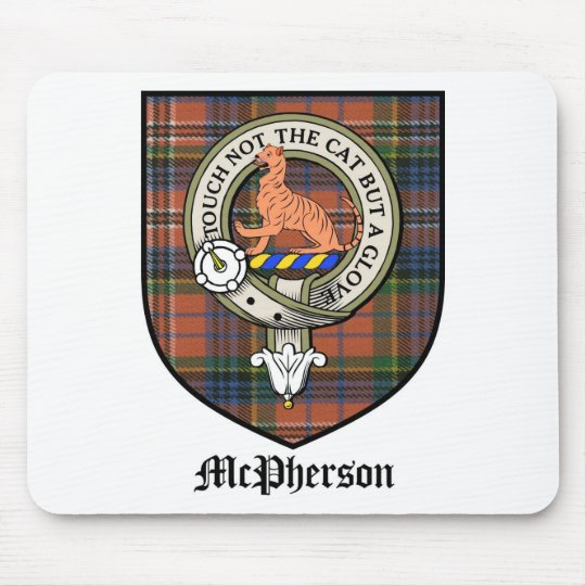 McPherson Clan Crest Badge Tartan Mouse Pad