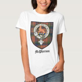 McPherson Clan Crest Badge Tartan Tee Shirt
