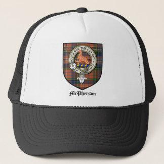 McPherson Clan Crest Badge Tartan Trucker Hat