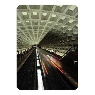 "McPherson Square station, Metro, Washington, D.C. 4.5"" X 6.25"" Invitation Card"