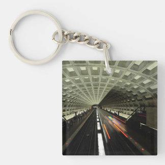 McPherson Square station, Metro, Washington, D.C. Double-Sided Square Acrylic Keychain