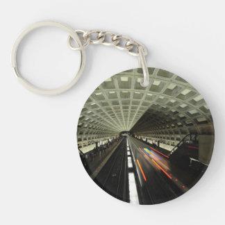 McPherson Square station, Metro, Washington, D.C. Double-Sided Round Acrylic Keychain