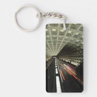 McPherson Square station, Metro, Washington, D.C. Double-Sided Rectangular Acrylic Keychain