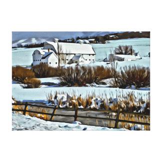 McPolin Farm in Park City, Utah Canvas Print